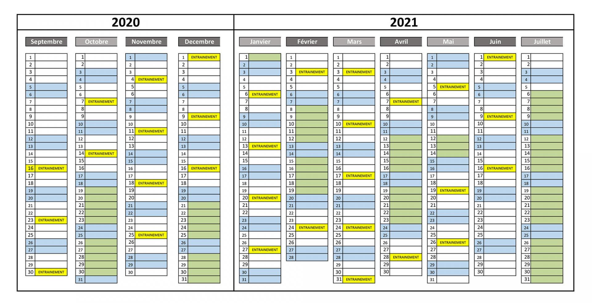 Planning encadrants 2020 2021
