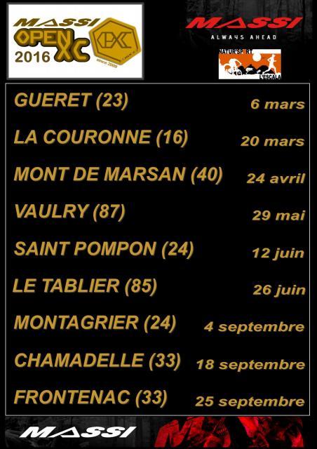 Dates open XC 2016